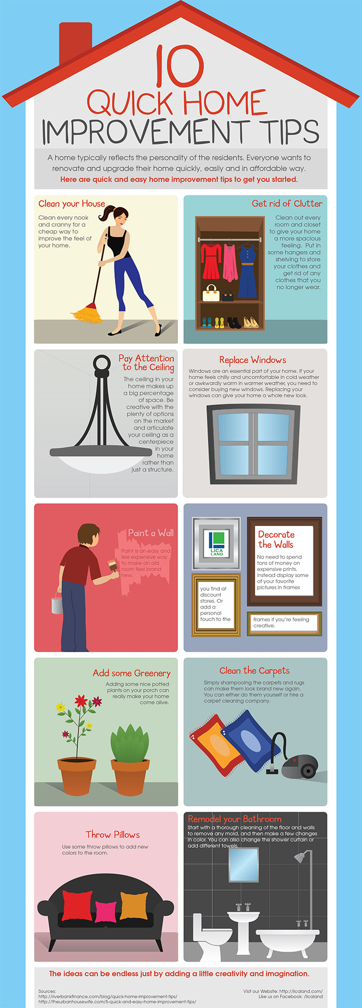Ten common quick tips for your home improvement for Home improvement tips