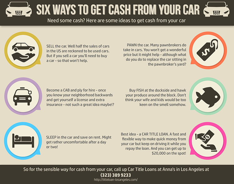Ways to Get Cash from Your Car