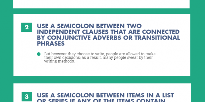 Proper Semicolon Punctuation Infographic Portal