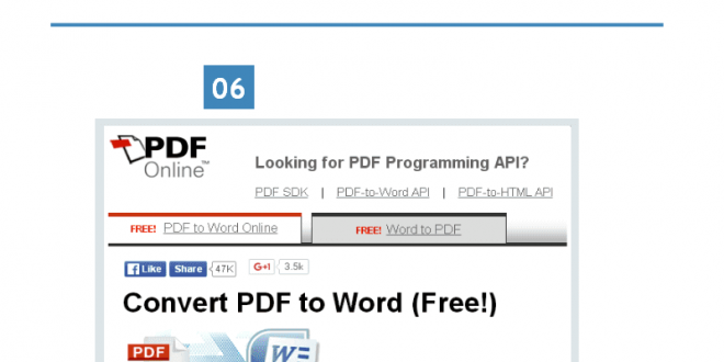 Top 8 Online PDF To Word Converters – Infographic Portal