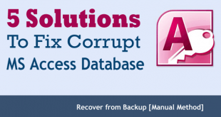 Manual Methods To Repair MS Access Database Files