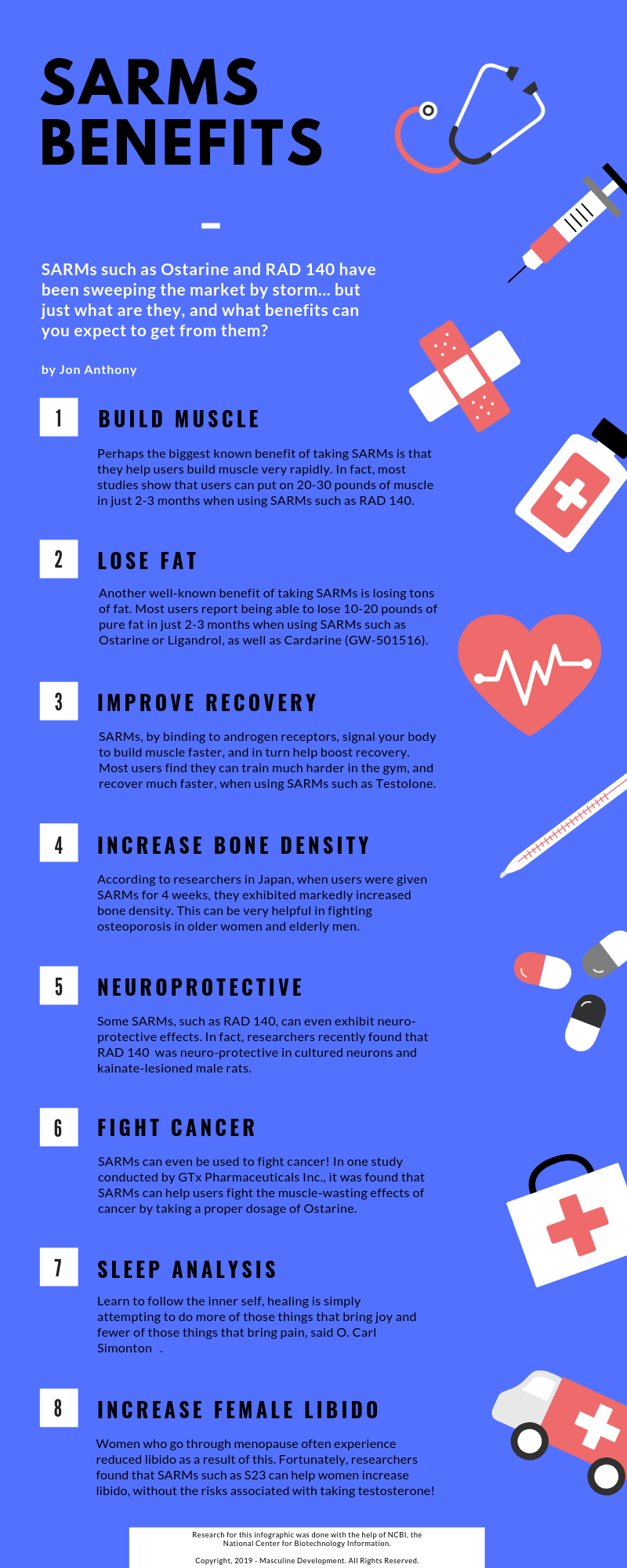 Top 8 Benefits of Taking SARMs | Infographic Portal